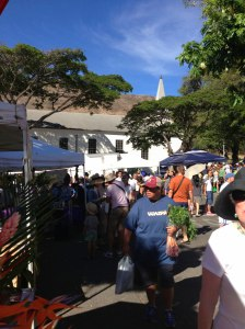 see the guy in the Waipa tee shirt? That is our favorite market in Kauai.  Didn't know he was in the picture till i started writing this.  hmmm a sign?