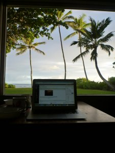 my blogging view