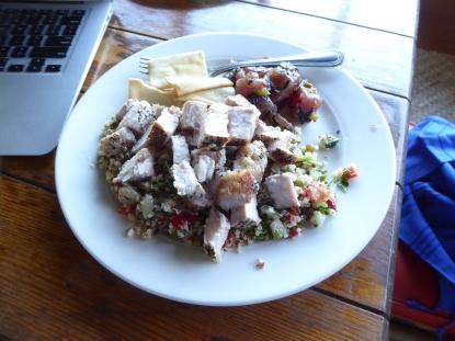 Sweet Kauai grilled pork on quinoa with a side of poke. Yup more poke