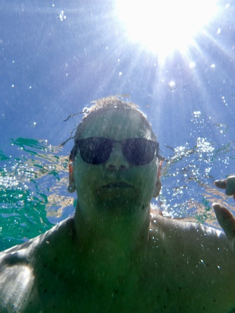 Mike's new favorite photo, selfies underwater