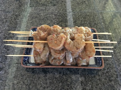 Kauai Shrimp ready to grill
