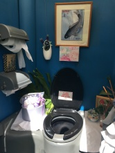 WOW, the inside of the port o potty